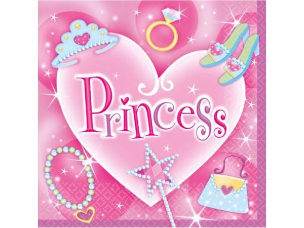 serviettes princesse fashion pour votre deco anniversaire. Black Bedroom Furniture Sets. Home Design Ideas