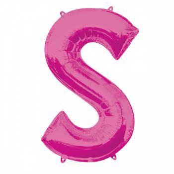 Mega Ballon Hélium lettre S fuschia