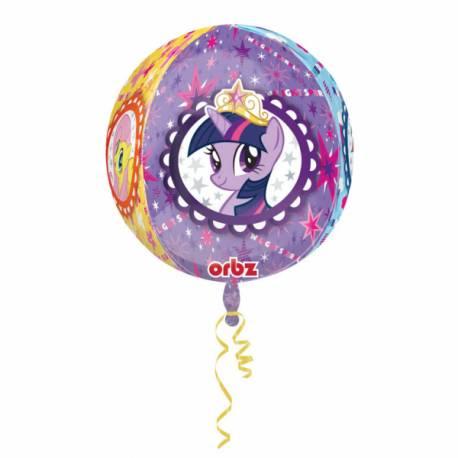 Ballon bulle My little Pony Ballon en aluminium pouvant étre gonflé avec ou sans hélium à l'aide d'une paille Dimensions: Ø39 cm Vendu à...