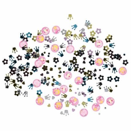 Confettis de table métallisés à parsemer pour la décoration de table My Princesse idéal pour l'anniversaire de votre fille
