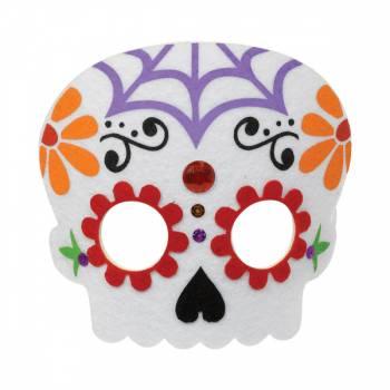 Masque en feutrine Santa Muerte
