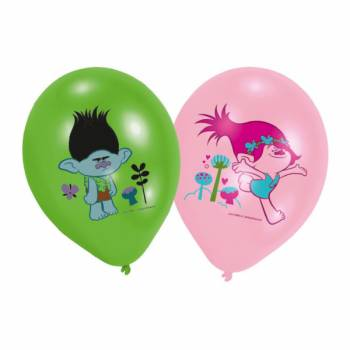 6 Ballons quadri Trolls