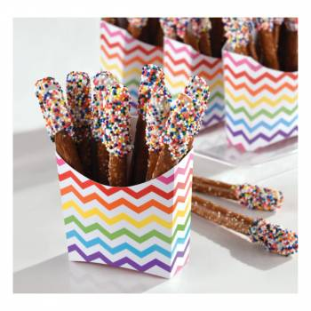 24 Mini box snack chevrons multicolore