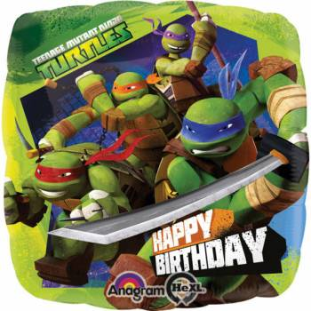 Ballon géant happy birthday Tortues Ninja