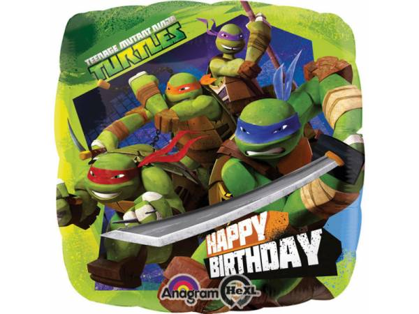 Ballon g ant happy birthday tortues ninja deco anniversaire enfant - Tortu ninja nom ...