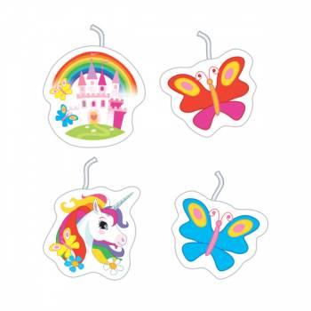 4 Bougies Licorne rainbow