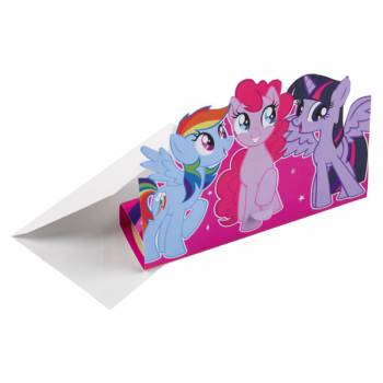 8 Invitations avec enveloppes Mon petit poney