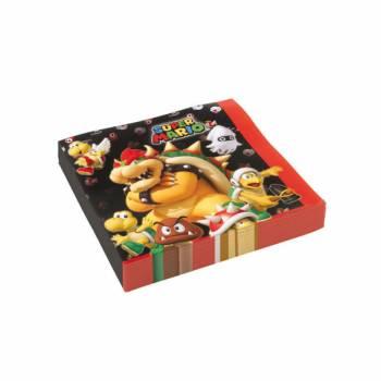20 Serviettes Mario Bros