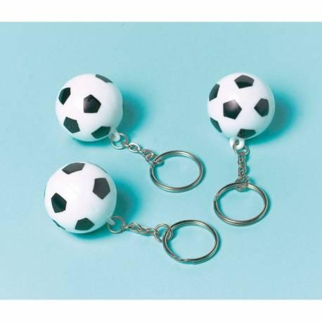 Lot de 12 porte-clés pour anniversaire enfant sur le thème du foot Idéal pour offrir en cadeaux de table à vos petits invités !