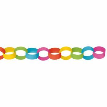 Guirlande chaîne en papier multicolore