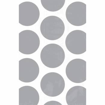 10 sacs en papier pois argents