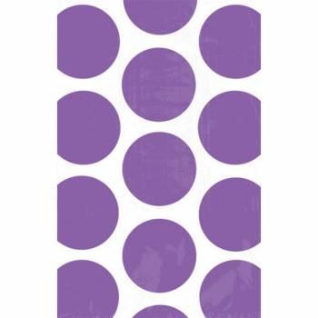 10 sacs en papier pois violet