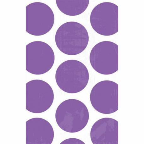 10sacs en papier pois violet pour confiseries Dimensions : 18 cm x 10.7 cm