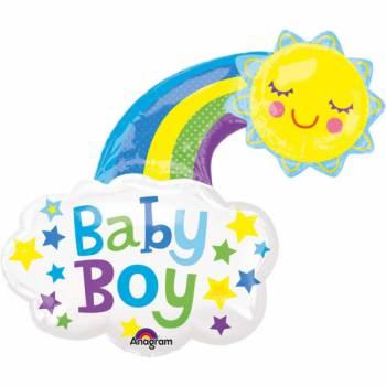 Ballon hélium géant Arc en ciel Baby boy