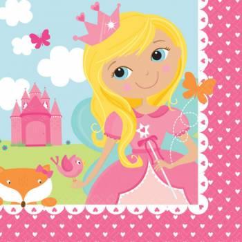 16 Serviettes Princesse des Bois