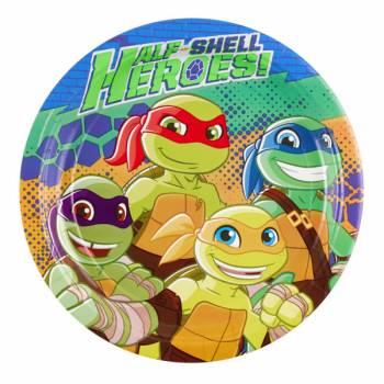 8 Assiettes Tortue Ninja half Shell Heroes