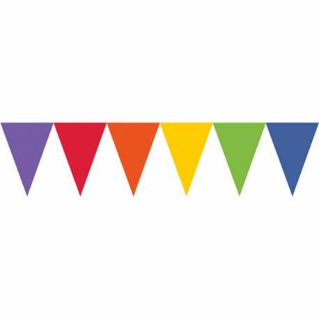 Guirlande en papier de fanions tendance de couleur multicoloreidéal pour la décoration de vos salles d'anniversaire, mariage, baptème...