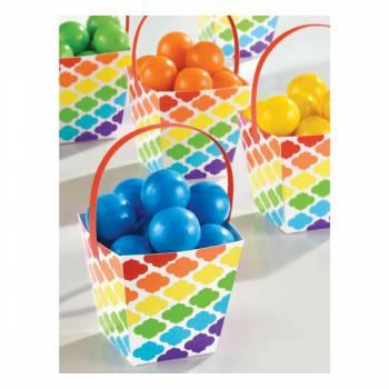 24 Mini panier snack baroque multicolore