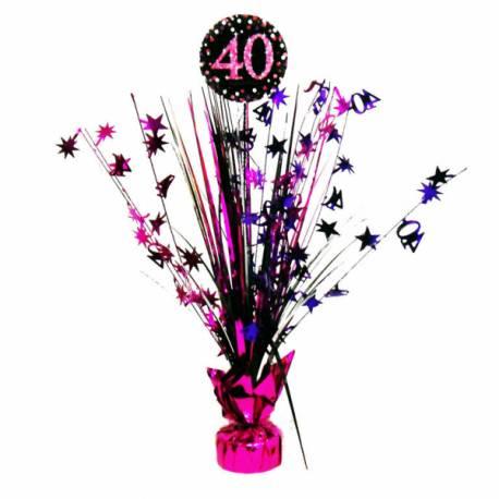 Centre de table pour anniversaire pink 40 ans Hauteur : 45.7 cm