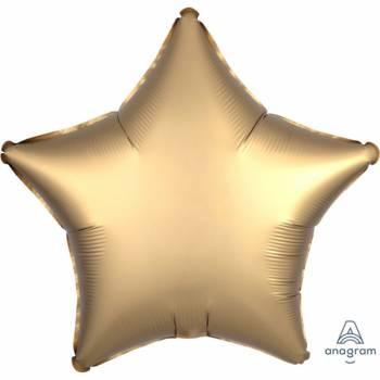 Ballon hélium satin luxe gold étoile