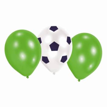 6 Ballons latex de foot party