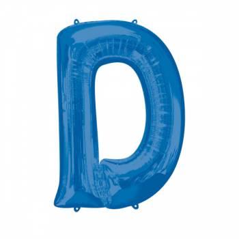 Mega Ballon Hélium lettre D bleu
