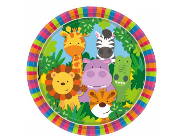 Assiettes animaux de La Jungle- deco anniversaire