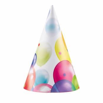 8 Chapeaux de fête Ballons