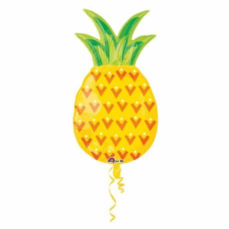 Ballon en aluminium à gonfler à l'hélium en forme d'ananas Vous pouvez églement le gonfler sans hélium à l'aide d'une paille Volume...