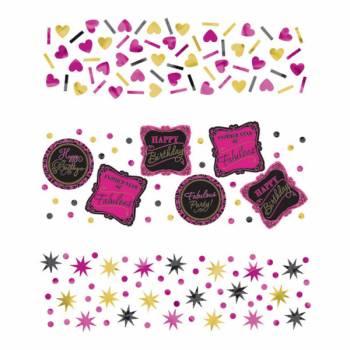 Confettis de table Fabulous girly