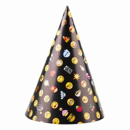 8 Chapeaux de fête à l'effigie des smileys emoticon pour animer votre d'anniversaire