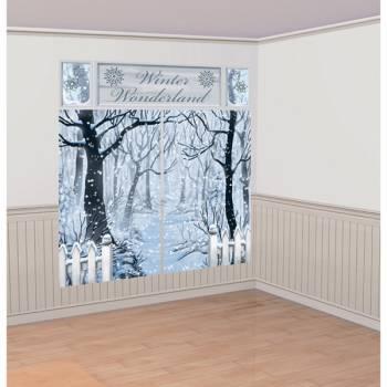 Kit décor mural géant Sous la neige