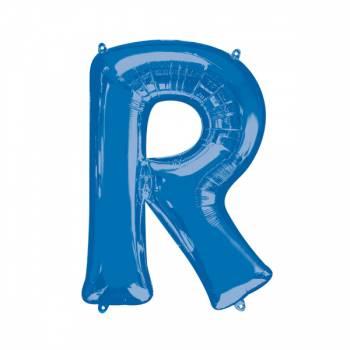 Mega Ballon Hélium lettre R bleu