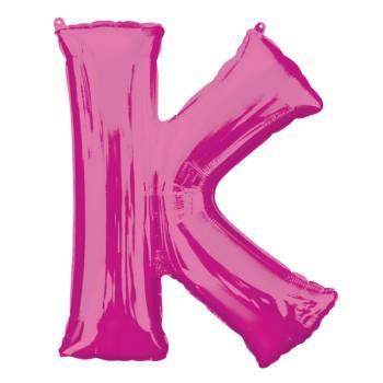 Mega Ballon Hélium lettre K fuschia