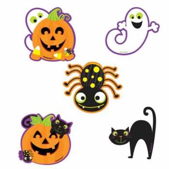 10 Mini décors en carton Monstres Halloween