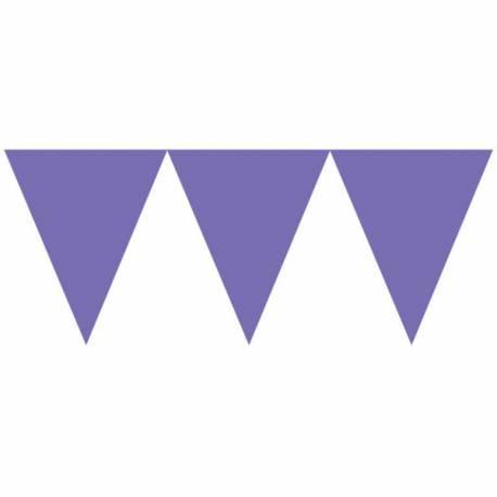 Guirlande en papier de fanions tendance de couleur violetidéal pour la décoration de vos salles d'anniversaire, mariage, baptème et...