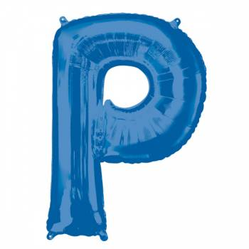 Mega Ballon Hélium lettre P bleu