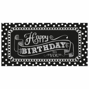 Pancarte Happy Birthday façon tableau