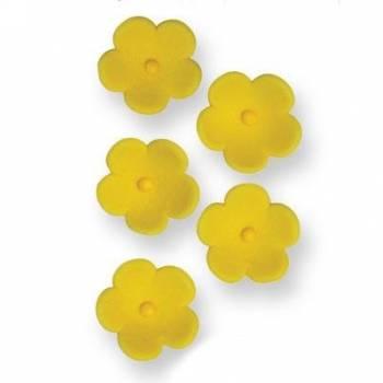 30 Fleurs en sucre jaune Ø 2cm