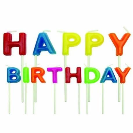 Une vraie surprise: Happy Birthday sur le gâteau d'anniversaire! Ces bougies joyeusement colorées sont parfaits pour les...