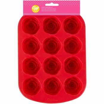 Moule à gâteau 12 roses en silicone