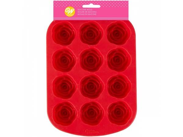 Moule en silicone 12 roses Wilton