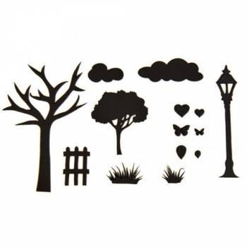 Emporte pièce Patchwork silhouette jardin