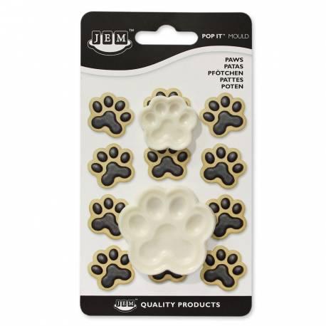 Kit 2 Emporte pièces Empreinte Patte de chien pour créer une belle décoration d'anniversaire à thème à votre enfant.Dimensions : Ø 5cm...
