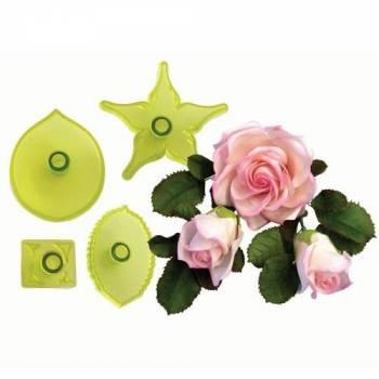 Kit 4 emporte pièces Rose large