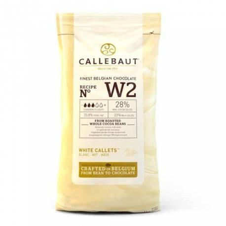 Paquet de 1 KG de galets de chocolat blanc à fondre pour réaliser toutes vos recettes à base de chocolat !Certifié casher