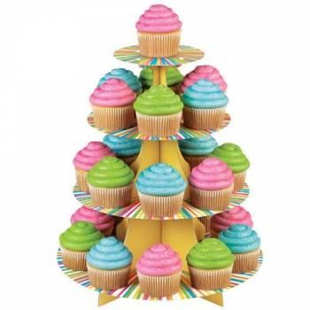Présentoir à cupcakes Rayures
