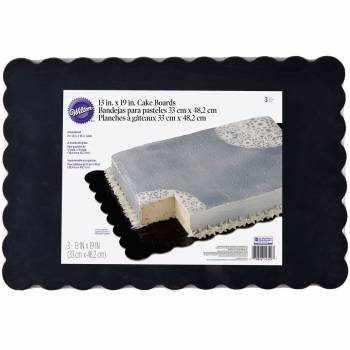 3 Semelles à gâteaux A3 rectangle noir Wilton