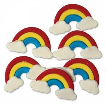 Mini figurines décors Arc en ciel en sucre