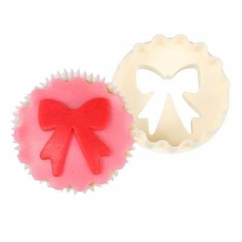 Emporte-pièce à cupcakes noeud